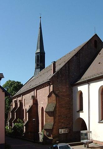 Schönau Abbey - Protestant church, formerly the refectory of Schönau Abbey