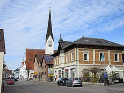 Town center with the Church of Saint Michael