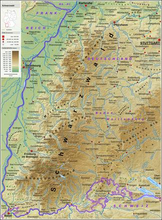 karte schwarzwald deutschland Schwarzwald – Wikipedia