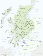 Scottish clan map