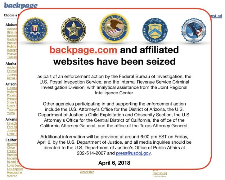 Screenshot Backpage 13.04.2018