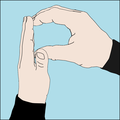 Scuba diver hand signal P for plastic.png