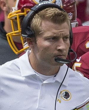 Sean McVay - McVay with the Washington Redskins in 2014