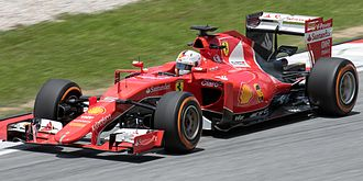 Scuderia Ferrari - Sebastian Vettel at the 2015 Malaysian Grand Prix, where he took his first win for Ferrari