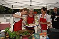 Secretary Kathleen Sebelius participates in a cooking demonstration at the new FRESHFARM Market outside the U.S. Department of Health and Human Services.jpg
