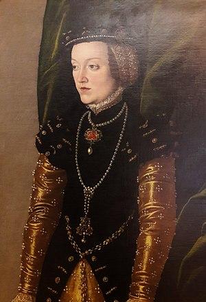 Duchess of Teschen - Image: Seisenegger Mary of Pernstein (detail) 01