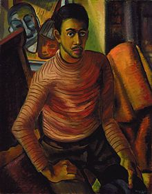 Self-portrait by Malvin Gray Johnson, 1934, Smithsonian American Art Museum.jpg