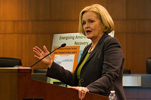 Claire McCaskill - Sen. Claire McCaskill speaks in Columbia, Missouri, in March 2014
