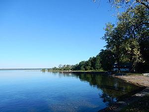 Dresden, Yates County, New York - Image: Seneca Lake in Dresden, Yates Co NY 02