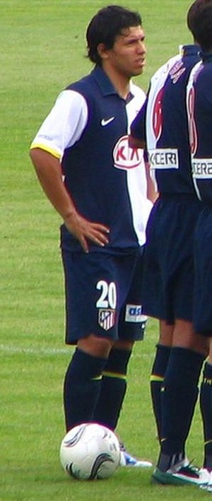Sergio Agüero - Agüero with Atlético Madrid.
