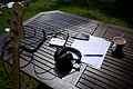 Setting up to try cram in some practice outside - It's a tuff life! (by Don Wright).jpg