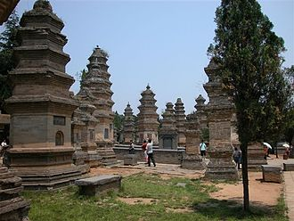 Pagoda Forest at Shaolin Temple - The Pagoda forest, wide view