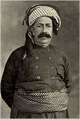 Kurdish clothing - Sheikh Mahmoud – Kurdistan's King (1918–1922) in traditional men's clothing