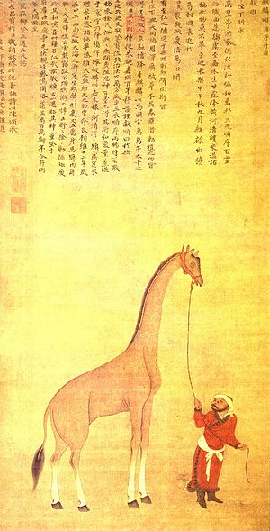 Chinese exploration - A giraffe brought from Somalia in the twelfth year of Yongle (1414)