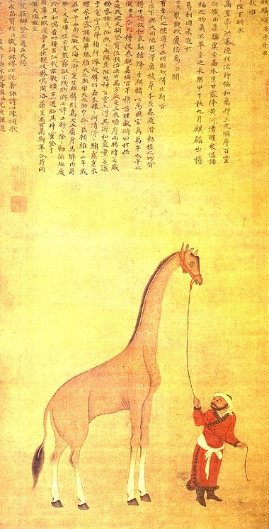 The Ajuran Sultanate maintained commercial ties with the Ming dynasty and other kingdoms. ShenDuGiraffePainting.jpg