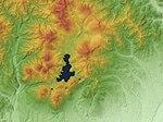 Shikaribetsu Volcano Group Relief Map, SRTM-1.jpg