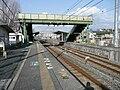 Shinden Station platform.jpg