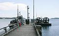 Ships at Berga navy base, Sweden.jpg