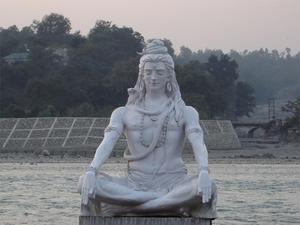 statue of Shiva in Rishikesh, India