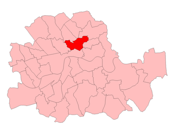 Shoreditch and Finsbury (UK Parliament constituency) - Shoreditch and Finsbury in London 1950-74