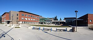 Shorewood High School (Washington) - Panoramic view of the newly added 2013 south courtyard