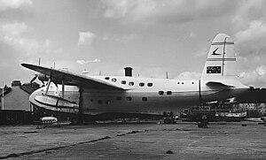 Short Sandringham - Short Sandringham 7 VH-APG at Cowes in 1954