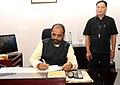 Shri Hansraj Gangaram Ahir takes charge as the Minister of State, Home Affairs, in New Delhi on July 11, 2016.jpg