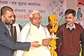 Shri Sadanand Singh, MLA, Kahalgaon (Bhagalpur) lighting the lamp to inaugurate the Public Information Campaign, organised by the Press Information Bureau, Patna, at Kahalgaon, Bhagalpur, Bihar on January 14, 2014.jpg