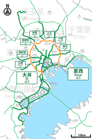 Shutoko expwy C2 route.png