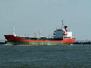 Sichem Formol p1 leaving Port of Rotterdam, Holland 12-Mar-2006.jpg