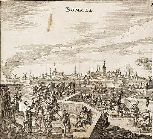 Siege of Zaltbommel - Beleg van Bommel (Zaltbommel) in 1599 (Johannes Janssonius)