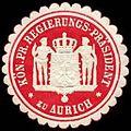 Siegelmarke Königlich Preussischer Regierungs - Präsident zu Aurich W0246543.jpg