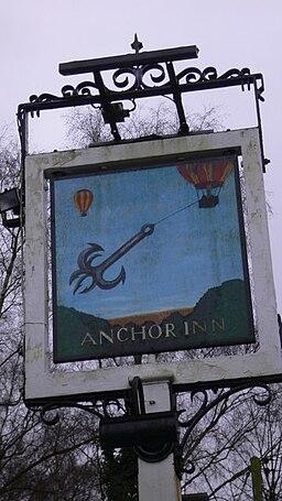 """Sign at the """"Anchor Inn"""" at Yateley - geograph.org.uk - 1620611"""