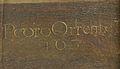 Signatura de Pedro Orrente al quadre Martiri de Jaume el Menor, museu de Belles Arts de València.JPG