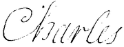 Signature of Charles of France, Duke of Berry in 1695.png