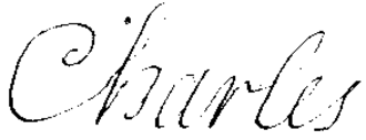 Charles, Duke of Berry (1686–1714) - Image: Signature of Charles of France, Duke of Berry in 1695