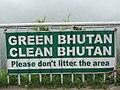 Signboard for Green Bhutan, Clean Bhutan.jpg