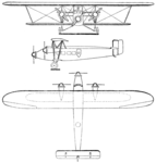 Sikorsky S-35 3-view Les Ailes June 24, 1926.png