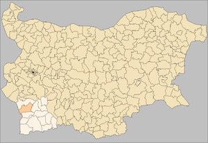 Simitli Municipality Bulgaria map.png