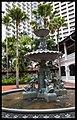Singapore Raffles court yard Fountain-1 (12230681256).jpg