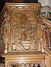 sint martinuskerk katwijk (cuijk) preekstoelpaneel 4, jesus leraart in de tempel