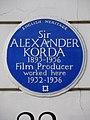 Sir ALEXANDER KORDA 1893-1956 Film Producer worked here 1932-1936.jpg