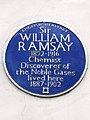 Sir WILLIAM RAMSAY 1852-1916 Chemist Discoverer of the Noble Gases lived here 1887-1902.jpg