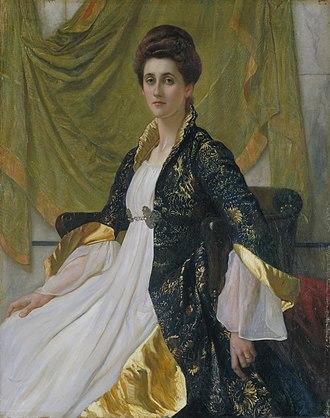 William Blake Richmond - Image: Sir William Blake Richmond Portrait of Mrs Ernest Moon Google Art Project
