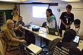 Sirshendu Mukhopadhyay at Wikipedia Booth - Apeejay Bangla Sahitya Utsav - Kolkata 2015-10-10 5176.JPG