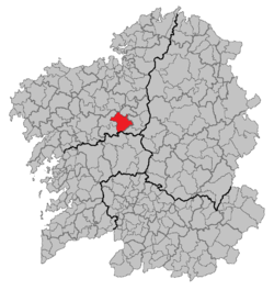 Location o Arzúa athin Galicie