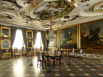 Historic house museum - The Kings' Hall at Skokloster in Sweden.