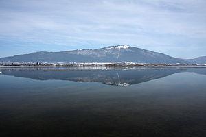 Slivnica (mountain) - view from across Lake Cerknica