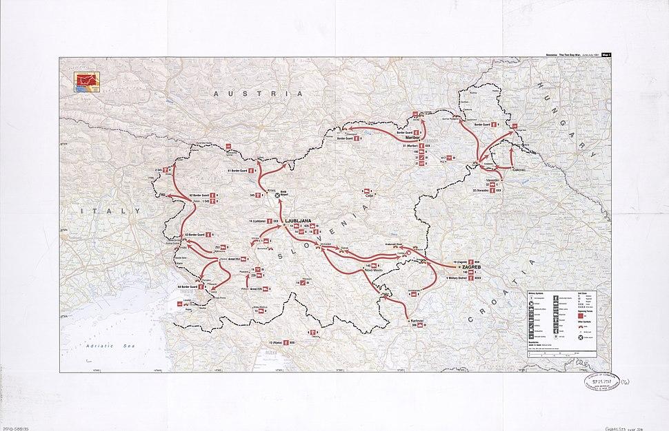 Slovenian war map