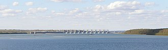 Smithland, Kentucky - Smithland Lock and Dam, upstream from Smithland Waterfront
